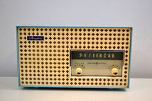 Load image into Gallery viewer, Continental Baby Blue 1960 General Electric Model 15R13 Musaphonic Tube Radio Clover Grid Grill! - [product_type} - General Electric - Retro Radio Farm