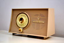 Load image into Gallery viewer, Taupe Beige 1956-1958 General Electric Model 875 AM Vacuum Tube Radio a Little Blaster! - [product_type} - General Electric - Retro Radio Farm
