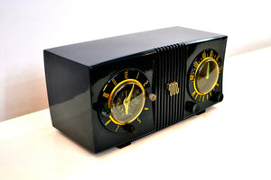 Forest Green 1950 Motorola Model 5C4 Tube AM Clock Radio Works Great High Quality Construction! - [product_type} - Motorola - Retro Radio Farm