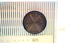 Load image into Gallery viewer, Spring Blue Vintage 1964 RCA Victor RJA12A Tube AM Radio Sounds Great!