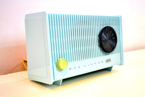 Spring Blue Vintage 1964 RCA Victor RJA12A Tube AM Radio Sounds Great!