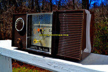 Load image into Gallery viewer, SOLD! - Mar 8, 2019 - Walnut Brown 1964 Zenith Model L513C Tube AM Clock Radio Works Great!
