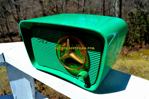 SOLD! - July 26, 2018 - NEVER BEFORE SEEN GREEN 1959 CBS Model T200 AM Tube Radio So Cute! Rare As Heck! - [product_type} - CBS - Retro Radio Farm