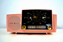 Load image into Gallery viewer, SOLD! - May 3, 2019 - Rose Pink 1959 General Electric Model C-4340 Tube AM Clock Radio Perfect! - [product_type} - General Electric - Retro Radio Farm
