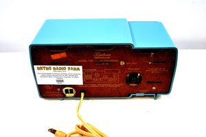 Turquoise and Gold 1959 Bulova Model 100 AM Antique Clock Radio Simply Fabulous!
