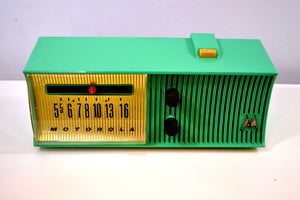 Sea Green Mid Century Retro Jetsons 1957 Motorola 57H Tube AM Radio Great Color Sounds Wonderful! - [product_type} - Motorola - Retro Radio Farm