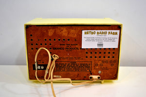 Lemon Yellow 1955 Granco Model 7TAF AM/FM Tube Antique Radio Extremely Rare and Sounds Great! - [product_type} - Granco - Retro Radio Farm