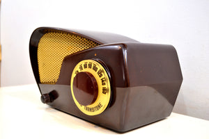 Boomerang Brown Bakelite 1949 Philco NModel 49-501 AM Vacuum Tube Radio Jawdropper! - [product_type} - Philco - Retro Radio Farm
