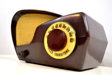 Load image into Gallery viewer, Boomerang Brown Bakelite 1949 Philco NModel 49-501 AM Vacuum Tube Radio Jawdropper! - [product_type} - Philco - Retro Radio Farm