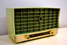 Load image into Gallery viewer, Pistachio Mint Green Vintage 1953 RCA Victor 6-XD-5 Tube Radio Sounds and Looks Great! - [product_type} - RCA Victor - Retro Radio Farm