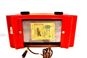 "Fire Engine Red 1955 Zenith ""Broadway"" Model R511F AM Tube Radio - [product_type} - Zenith - Retro Radio Farm"