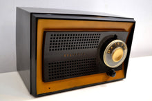 Load image into Gallery viewer, Carbon Black Jet Age 1951 Sylvania Model 512BL AM Vacuum Tube Radio Excellent Condition! - [product_type} - Sylvania - Retro Radio Farm