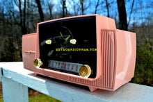 Load image into Gallery viewer, SOLD! - June 4, 2018 - ROSE PINK Mid Century Jetsons 1959 General Electric Model 915 Tube AM Clock Radio Some Issues - [product_type} - General Electric - Retro Radio Farm