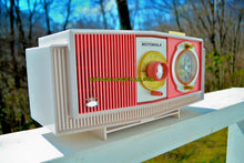 Load image into Gallery viewer, SOLD! - June 3, 2018 - PRETTY IN PINK Mid Century Retro 1963 Motorola Model C19P-23 Tube AM Clock Radio Rare Color!