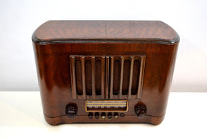 Pre-War Solid Wood Beauty Art Deco 1938 RCA Victor Model 96T1 Vacuum Tube Radio Huge Sound! - [product_type} - RCA Victor - Retro Radio Farm