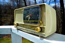 Load image into Gallery viewer, SOLD! - July 28, 2018 - ALL IVORY Mid Century Retro 1956 RCA Victor 9-C-7LE Tube AM Clock Radio Totally Restored and Sounds Great! - [product_type} - RCA Victor - Retro Radio Farm