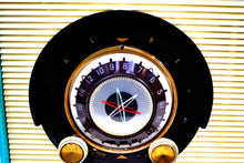 Load image into Gallery viewer, Aqua and White Sputnik Era Vintage 1957 General Electric 862 AM Radio Beautiful! - [product_type} - General Electric - Retro Radio Farm