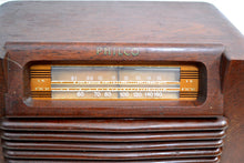 Load image into Gallery viewer, WWII Era 1942 Philco Transitone Model 42-322 AM Radio Sounds Great Hardwood Cabinet! - [product_type} - Philco - Retro Radio Farm