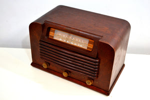 WWII Era 1942 Philco Transitone Model 42-322 AM Radio Sounds Great Hardwood Cabinet! - [product_type} - Philco - Retro Radio Farm