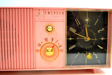 Load image into Gallery viewer, SOLD! - Apr 30, 2019 - Petal Pink 1960s Emerson Lifetimer I Tube AM Clock Radio Mid Century Beauty! - [product_type} - Emerson - Retro Radio Farm