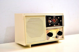 Valiant White 1967 Philco-Ford Model F234 Vacuum Tube AM Radio End of an Era! - [product_type} - Philco - Retro Radio Farm