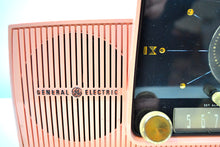 Load image into Gallery viewer, Rose Pink 1959 General Electric Model C-4340  Tube AM Clock Radio Cream Puff! - [product_type} - General Electric - Retro Radio Farm