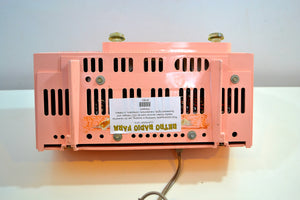 SOLD! - May 25, 2019 - Rose Pink 1959 General Electric Model C-4340  Tube AM Clock Radio Cream Puff! - [product_type} - General Electric - Retro Radio Farm