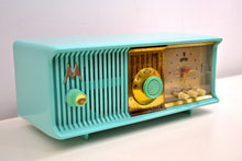 Load image into Gallery viewer, Vivid Turquoise Mid Century 1957 Motorola Model 57CC Tube AM Clock Radio Sounds Great! Looks Great! - [product_type} - Motorola - Retro Radio Farm