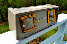 Load image into Gallery viewer, SOLD! - June 23, 2018 - SANDALWOOD BEIGE IVORY Mesh Mid Century 1954 Sparton Model 375C AM Tube Radio Real Looker!
