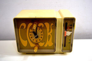 GROOVY Retro Solid State 1970's General Electric C3300A AM Clock Radio Alarm It's Dynamite! - [product_type} - General Electric - Retro Radio Farm
