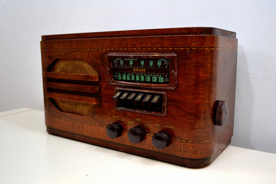 Wood Vintage 1939 Airline 84WG-612A AM Vacuum Tube AM Shortwave Radio Excellent+ Condition! - [product_type} - Airline - Retro Radio Farm