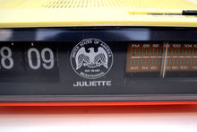 Load image into Gallery viewer, Spirit of 76 Red White Julliette Model FDC-1976 Flip Clock Solid State AM FM Radio Very Patriotic! - [product_type} - Juliette - Retro Radio Farm