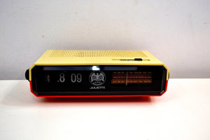 Spirit of 76 Red White Julliette Model FDC-1976 Flip Clock Solid State AM FM Radio Very Patriotic! - [product_type} - Juliette - Retro Radio Farm
