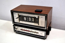 Load image into Gallery viewer, Genuine Faux Wood Grain 1974 Westclox AM/FM Solid State Clock Radio Alarm Rare Film Strip Model! - [product_type} - Westclox - Retro Radio Farm