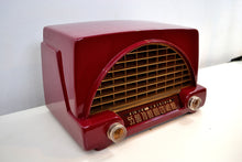 Load image into Gallery viewer, SOLD! - May 14, 2019 - Cranberry Red 1952 Philco Model 52-542 Transitone Vintage AM Tube Radio Bakelite Unbelievable Sound! - [product_type} - Philco - Retro Radio Farm