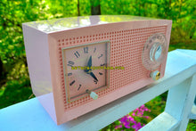 Load image into Gallery viewer, SOLD! - May 16, 2018 - PINK LADY Mid Century Retro Vintage 1959 General Electric Model C-400A AM Tube Radio Pink Clock Face! - [product_type} - General Electric - Retro Radio Farm