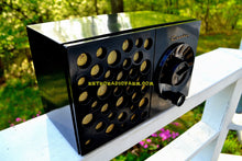 Load image into Gallery viewer, SOLD! - May 17, 2018 - EBONY SWISS CHEESE 1953 Crosley Model JT-3  AM Tube Radio Sounds Great Looks Unique!