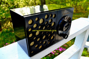 SOLD! - May 17, 2018 - EBONY SWISS CHEESE 1953 Crosley Model JT-3  AM Tube Radio Sounds Great Looks Unique!
