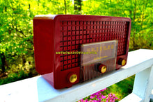 Load image into Gallery viewer, SOLD! - May 25, 2018 - CRANBERRY RED Mid Century Retro Vintage 1955 RCA Victor Model 5X-564 AM Tube Radio Great Sounding!