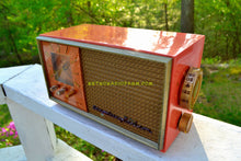Load image into Gallery viewer, SOLD! - Oct 1, 2018 - Coral And Copper 1955 Stromberg Carlson Model C-5 Tube AM Clock Radio Rare and Exquisite! - [product_type} - Stromberg Carlson - Retro Radio Farm