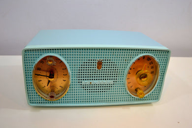 Belvedere Blue Vintage 1959 Zenith Model B514V AM Tube Radio Excellent Condition! - [product_type} - Zenith - Retro Radio Farm