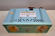 Load image into Gallery viewer, SOLD! - Jan. 8, 2020 - Belvedere Blue Vintage 1959 Zenith Model B514V AM Tube Radio Excellent Condition! - [product_type} - Zenith - Retro Radio Farm