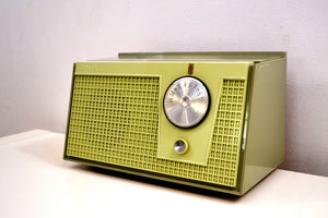 Olive Green 1955 Zenith Model F510 AM Vacuum Tube Radio Excellent Condition! - [product_type} - Zenith - Retro Radio Farm