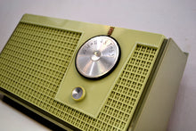 Load image into Gallery viewer, Olive Green 1955 Zenith Model F510 AM Vacuum Tube Radio Excellent Condition! - [product_type} - Zenith - Retro Radio Farm