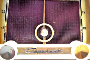 Ivory Cream Vintage 1953 Capehart Model T-522X AM Tube Shortwave Radio Looks Classy! - [product_type} - Capehart - Retro Radio Farm