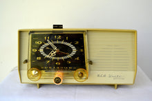 Load image into Gallery viewer, Golden Rod Yellow 1959 RCA Victor C-4EM Tube AM Clock Radio Works Great! Looks So MCM! - [product_type} - RCA Victor - Retro Radio Farm