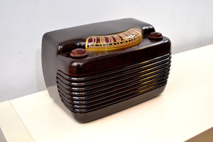 Marble Swirly Brown Bakelite Vintage 1946 Philco Model 46-420 AM Radio Flawless and Sounds Amazing! - [product_type} - Philco - Retro Radio Farm