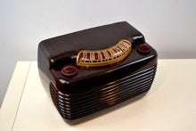 Load image into Gallery viewer, Marble Swirly Brown Bakelite Vintage 1946 Philco Model 46-420 AM Radio Flawless and Sounds Amazing! - [product_type} - Philco - Retro Radio Farm