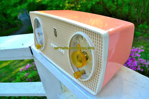 MAYFAIR PINK Mid Century Vintage 1955 Zenith Model B514V AM Tube Radio Excellent Condition!