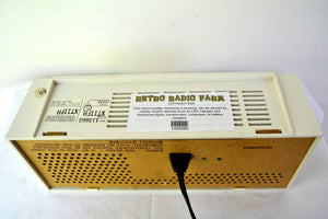 Caesar Ivory 1960s Motorola Model XT11FH Vintage Solid State AM Radio Works Great!